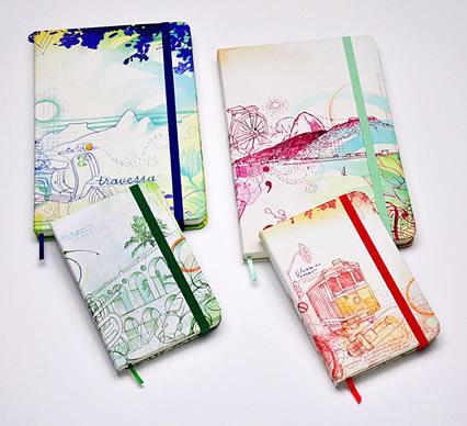 Caderninhos com estampas do Rio